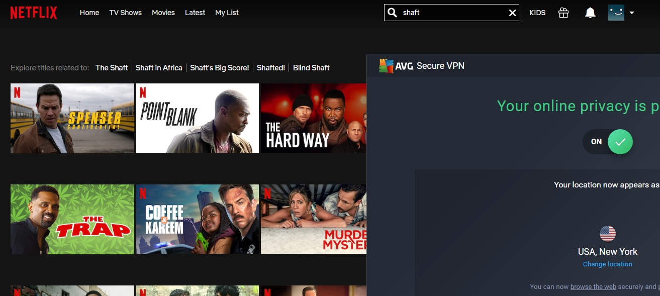 AVG VPN doesn't work with netflix