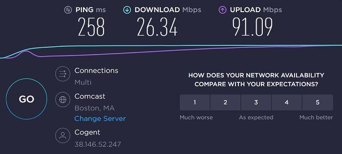 avast-vpn-united-states-boston-server-speed-test-result