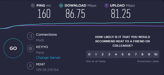 purevpn-speed-test-result-france-server