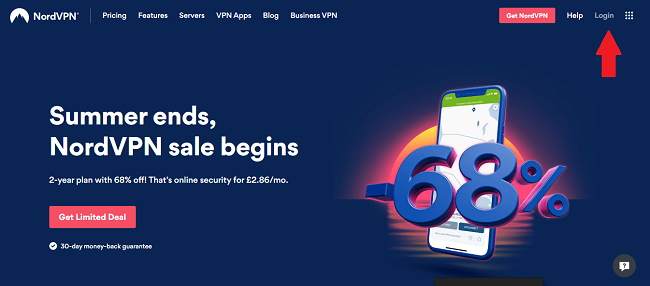 NordVPN-website-login-screen
