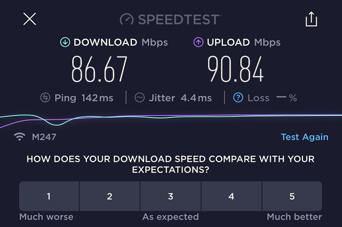 expressvpn-speed-test-result-Switzerland-server