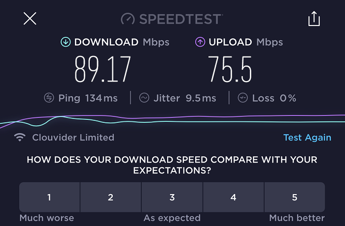 expressvpn-speed-test-result-UK-server