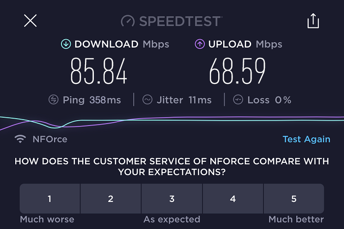 expressvpn-speed-test-result-USA-server