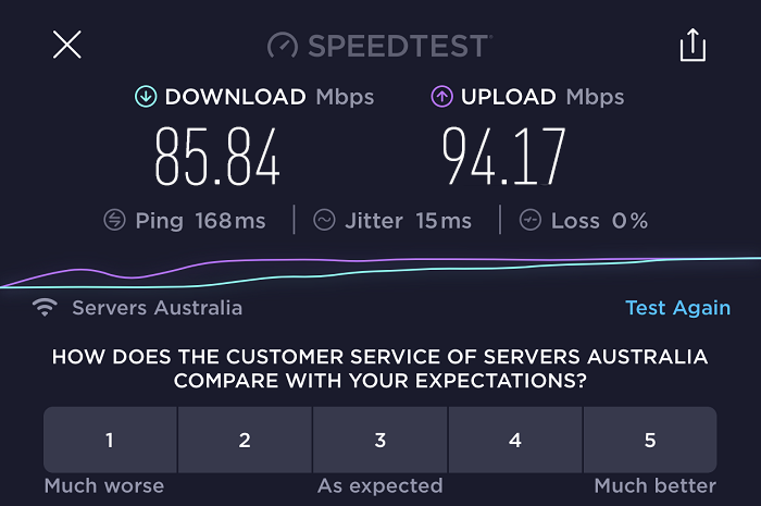 expressvpn-speed-test-result-australia-server