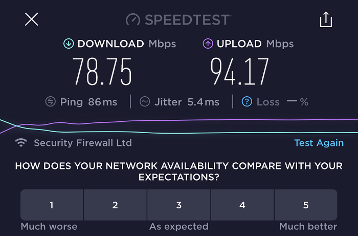 expressvpn-speed-test-result-singapore-server