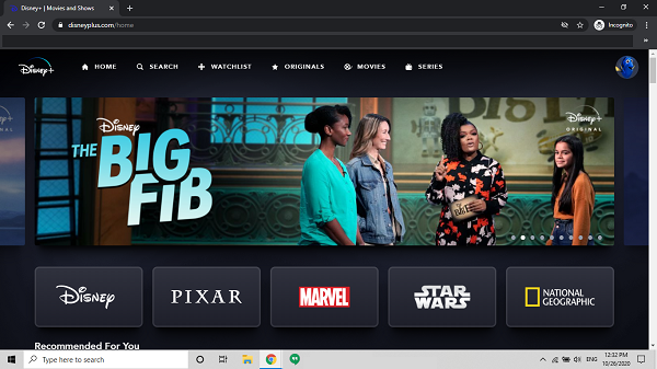 Disney-plus-website