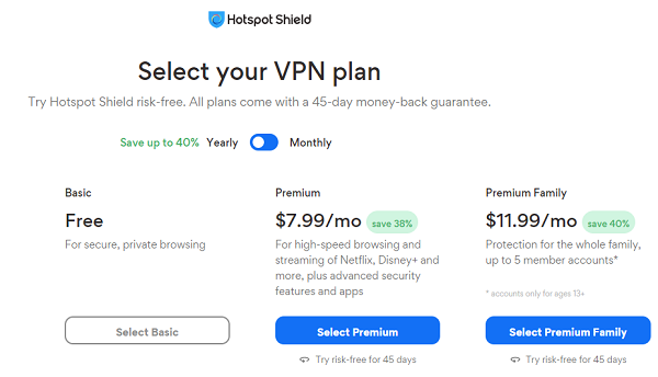 Hotspot Shield - Reliable Free VPN Service