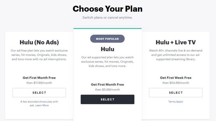 hulu-subscription-plans